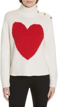 Kate Spade Intarsia Heart High Neck Sweater