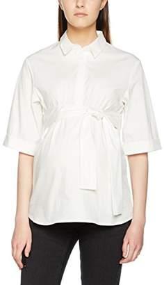 Mama Licious Mamalicious Women's MLIMA 2/4 Woven Shirt Maternity Blouse, (Snow White), (Size: L)