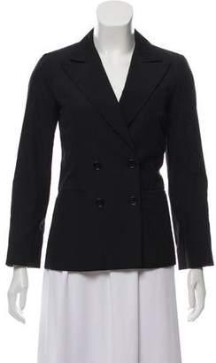 Louis Vuitton Double-Breasted Silk-Wool Blazer