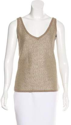 Loro Piana Cashmere Herringbone Top