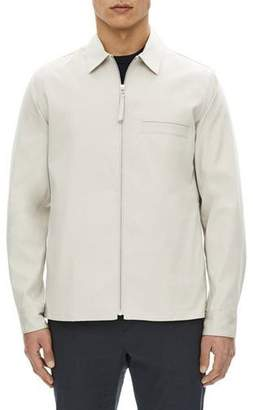 Theory Rye Zip-Front Shirt Jacket