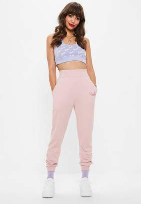 Missguided Barbie x Pink Barbie Joggers