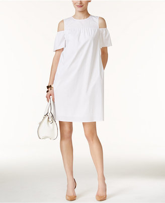 Alfani Cold-Shoulder Shift Dress, Created for Macy's $99.50 thestylecure.com