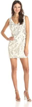 Ark & Co Women's Sequins V-Neck Dress