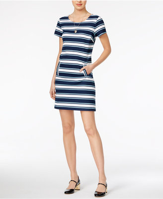 Maison Jules Striped Shift Dress, Only at Macy's $69.50 thestylecure.com