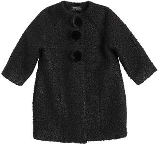 MonnaLisa Boucle Coat W/ Mink Fur Pompoms