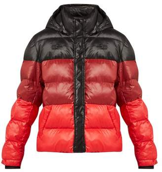 Proenza Schouler Pswl - Striped Quilted Down Filled Jacket - Womens - Black