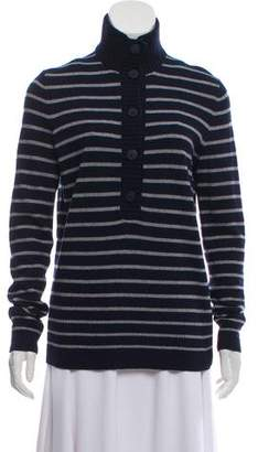 Tory Burch Striped Long Sleeve Sweater