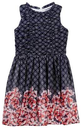 Dorissa Belle Chiffon Floral Border Dress (Big Girls)