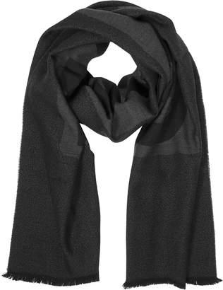 Moschino Dark Gray Signature Wool Scarf
