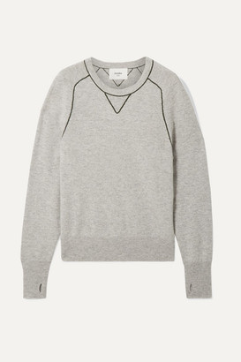 Bassike Embroidered Cashmere Sweater - Gray