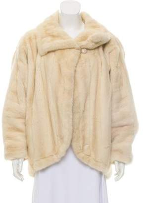 J. Mendel Mink Fur Point-Collar Jacket