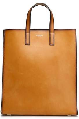 Michael Kors Prescott Burnished-Leather Tote