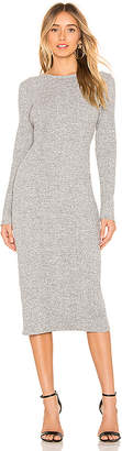 Vince Long Sleeve Rib Dress