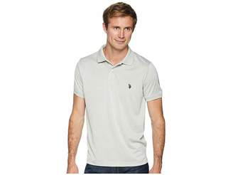 U.S. Polo Assn. Classic Fit Interlock Heather Solid Polo Shirt Men's Clothing