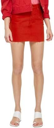 Topshop Fray Hem Miniskirt
