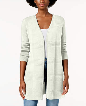 Charter Club Ribbed-Knit Open-Front Cardigan