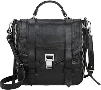 Proenza Schouler PS1+ Zip Black Leather Backpack