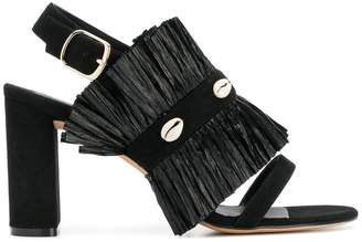 Jean-Michel Cazabat pleated open-toe sandals