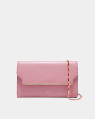 8f85085bbac089 ... at Ted Baker · Ted Baker MIIAA Crystal bar leather clutch bag get cheap  dcce3 d300b ...