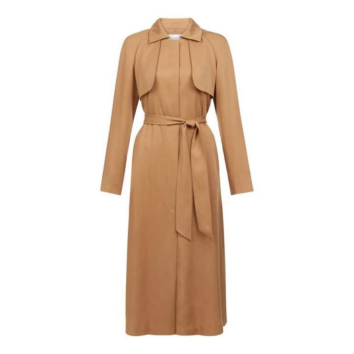 Tan Fluid Madison Trench Coat