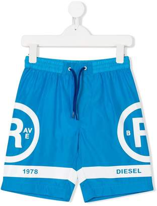 Diesel printed swim shorts
