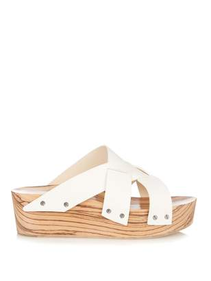 Proenza Schouler Leather platform slide sandal
