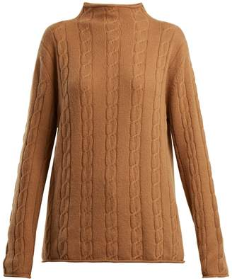 CONNOLLY High-neck cable-knit cashmere sweater