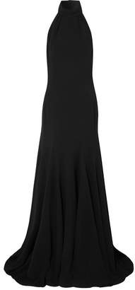 Stella McCartney Halterneck Stretch-cady Gown - Black