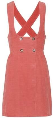 ALEXACHUNG Corduroy pinafore dress