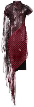 Paula Knorr sheer fringed dress