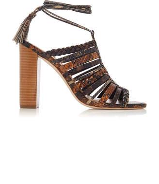 a4d6e4816da9 Ulla Johnson Rayna Lace-Up Caged Leather Sandals