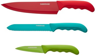 Farberware Colorworks Comfort Grip 3-piece Chef Cutlery Set
