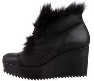 Pedro Garcia Leather Platform Booties