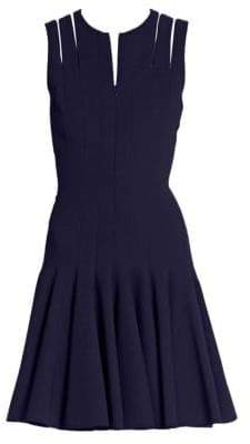 Akris Zipper-Accented Wool Dress