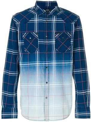 Diesel faded check shirt