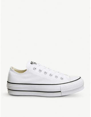 Converse Low Platform canvas trainers