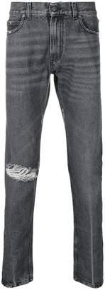 Paura distressed slim-fit jeans
