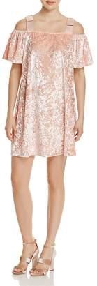 Nanette Lepore nanette Cold-Shoulder Velvet Dress