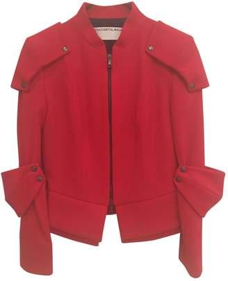 JC de CASTELBAJAC Red Wool Jacket for Women