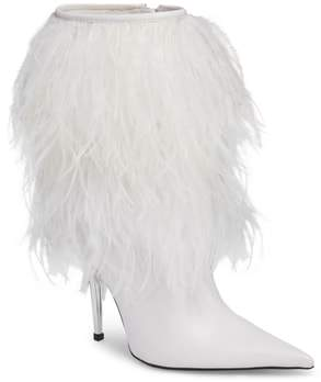 Jeffrey Campbell Fly4U Ostrich Feather Bootie