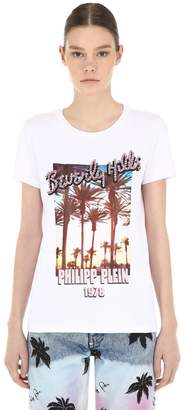 Philipp Plein Printed Cotton Jersey T-Shirt