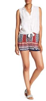 Lily White Printed Drawstring Shorts