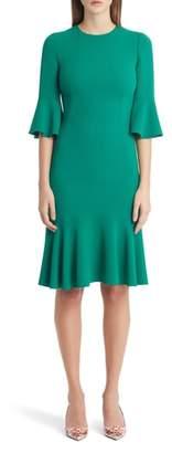 Dolce & Gabbana Ruffle Sleeve & Hem Dress