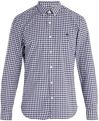 Burberry Navy gingham-check cotton shirt