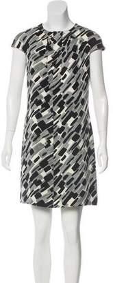 Michael Kors Silk Patterned Mini Dress