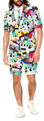 OppoSuits 'Testival - Summer' Trim Fit Two-Piece Short Suit with Tie