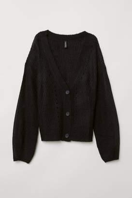 H&M V-neck Cardigan - Black