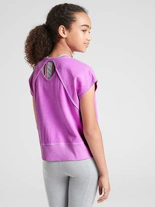 Athleta Girl Beachy Open Back Sweatshirt