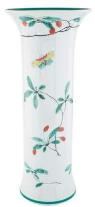 Mottahedeh Famille Vert Trumpet Vase